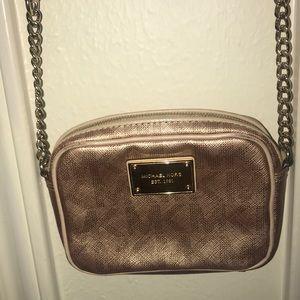 Rose gold Michael Kors crossbody bag